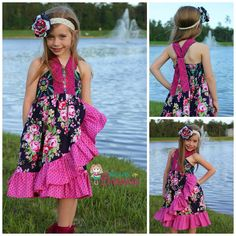 Dress by Because of Brenna; Beauty Queen fabric by Jennifer Paganelli; pattern by Create Kids Couture