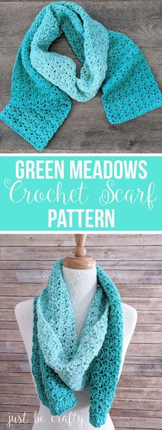 Green Meadows Crochet Scarf Pattern | Free Pattern by Just Be Crafty