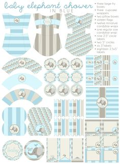 DIY PDF Printable Baby Boy Baby Shower Party by LuxePartySupply. , via Etsy.