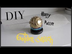 Heres another DIY Harry Potter themed home decor video! Today i'm showing you how to make a Golden Snitch!
