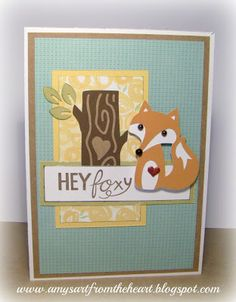 Amy's Art from the Heart, ctmh, Artistry fox card, Blossom paper