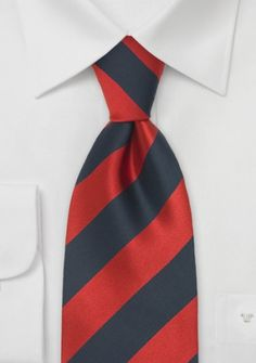 Krawatte Streifenstruktur rot blau