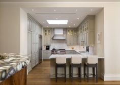 Sugar House | CAROLINE BEAUPERE Grey Kitchen Cabinets, Conference Room, Classy, Sugar, Gray, Table, House, Furniture, Home Decor