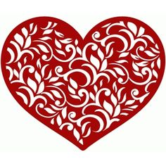 Silhouette Design Store: floral heart