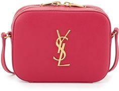 Saint Laurent Monogramme Camera Crossbody Bag, Fuchsia