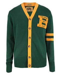 Billionaire Boys Club – Knitted Green Varsity Cardigan $175 from Coggles.com