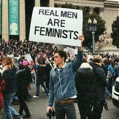 "The only ""real men/women are..."" I would post  5,724 Likes, 64 Comments - Konbini (@konbini) on Instagram: ""Women's March 2017"""