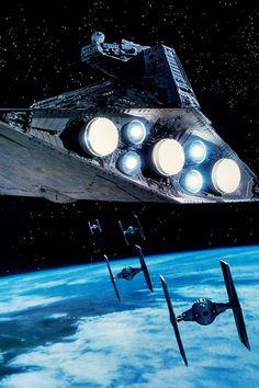 #StarWars #StarDestroyer #TIEfighter
