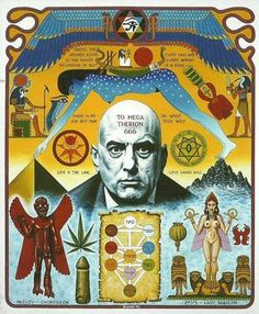 Aleister Crowley by Justin B the Magician Occult Symbols, Masonic Symbols, Occult Art, Esoteric Art, Aleister Crowley, Spirit Science, Arte Popular, Sacred Art, Fractals