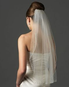 Crystal Wedding Veil!  Come to Davison Bridal in Davison, MI for all of your wedding day and special event needs!  Call (810) 658-6070 or visit our website www.davisonbridal.com for more information!