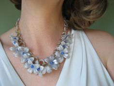vintage celluloid necklace / 1940s jewelry / by jeanjeanvintage, $140.00