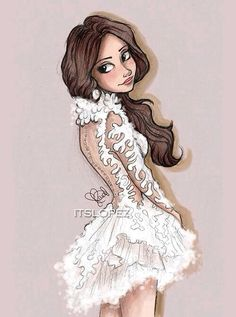 Selena in Marchesa 2014 - Drawing by itslopez Character Design Cartoon, Character Art, Moda Fashion, Fashion Art, Fashion Sketches, Art Sketches, Selena Gomez Drawing, Estilo Selena Gomez, Itslopez