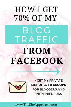 Struggling to grow your blog's audience? Read my best tips on how to get your blog traffic from Facebook and connect with your target readers. Blogging tips, social media tips for bloggers, blog traffic ideas, facebook groups for bloggers and creative ent