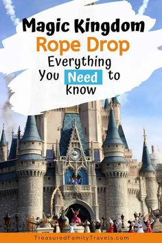 Going to the Magic Kingdom at Disney World? Click here for rope drop tips that will help you organize your morning touring plan. You need a strategy! Read this for secrets and advice for enjoying the Magic Kingdom's rope drop. #DisneyWorld #MagicKingdom #ropedrop #DisneyRopeDrop #extramagichours #MagicKingdomWelcomeShow