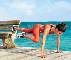 25 No-Equipment Sculpting Moves | Plank Tuck: Works shoulders, lower back, abs, obliques