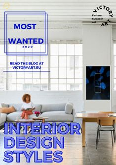 Read our blog about interior design styles that are in right now along with some art works that goes along with the each style! Office Interior Design, Office Interiors, Interior Decorating, Cozy Living Spaces, Central And Eastern Europe, Design Styles, Art Blog, Art For Sale, Home Office