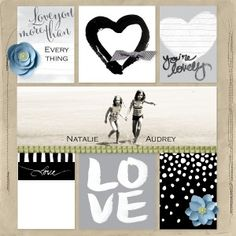 My Digital Studio : Love Story Project Life kit : Designed by Holly VanDyne @ hollystamps.com #stampinup #mds #projectlife