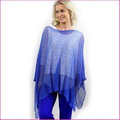 Neuleponcho Royal Blue Royal Blue, Cover Up, Dresses, Fashion, Vestidos, Moda, Fashion Styles, Dress, Fashion Illustrations