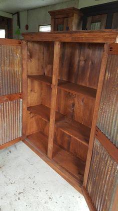 Primitive furniture pie safe / jelly cabinet / country | Etsy Rustic Farmhouse Furniture, Primitive Furniture, Country Furniture, Country Farmhouse, Primitive Crafts, Rustic Storage Cabinets, Primitive Cabinets, Farmhouse Cabinets, Pine Furniture