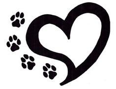 26 Ideas Dogs Paw Tattoo With Initial Tattoos Motive, Dog Tattoos, Cat Tattoo, Animal Tattoos, Body Art Tattoos, Print Tattoos, Tatoos, Memory Tattoos, Trendy Tattoos