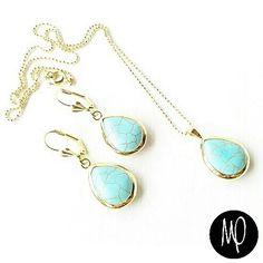 Zarcillos y collar - Turquesas - GoldFilled y Baño de oro #turquesa #turquoise #turchese #instagram #instaphoto #instagoldsmith #instajewelry #jewelry #musthave #lovethem