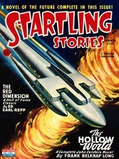 Startling Stories Vol 12 No Summer Cover art by Earle Bergey. Vintage Comic Books, Vintage Comics, Vintage Posters, Vintage Ads, Science Fiction Magazines, Pulp Magazine, Magazine Covers, Magazine Art, Sci Fi Comics