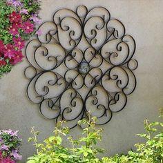 Metal Wall Medallion metal wall decor/wrought iron wall decor/black wall hanging/iron
