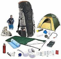 Backpack Camping Set ENTIRE KIT, as shown, for $130!
