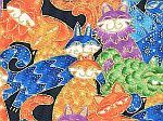 Awesome cat fabric.