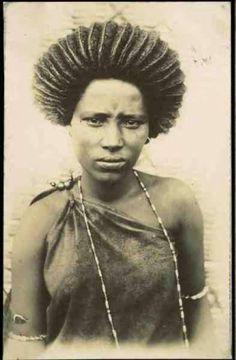 Beautiful Oromo (kemetic Africa) hair style in Jimma, Oromia, 1885 -1894