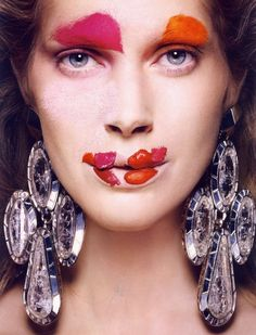 Iselin Steiro for Vogue Paris June-July 2010 | Make-up art by Tyen