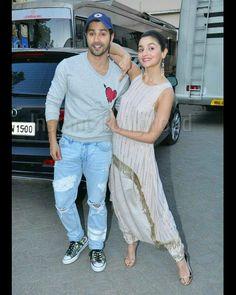 Alia And Varun, Varun Dhawan, Alia Bhatt, Upcoming Movies, Celebs, Celebrities, Bollywood, Capri Pants, Handsome