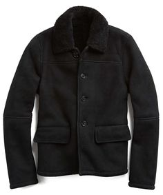fd1cdc182e Smith Shearling Coat in Black Shearling Jacket, Leather Men, Leather Jackets,  Buy Photos