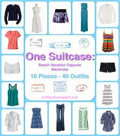 Outfit Posts: one suitcase: beach vacation capsule wardrobe (can change some parts for cruise)
