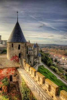 Medieval Architecture in Carcassonne, France. I do not know when this architecture was created. I really enjoy this piece of architecture it is really pretty,