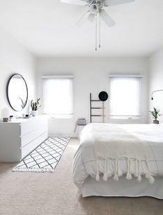 Home Interior Design How to Achieve a Minimal Scandinavian Bedroom.Home Interior Design How to Achieve a Minimal Scandinavian Bedroom Minimal Bedroom, Monochrome Bedroom, Minimal Home, Minimal Style, Minimalist Room, Minimalist Apartment, Minimalist Interior, Modern Minimalist, Bedroom Design Minimalist