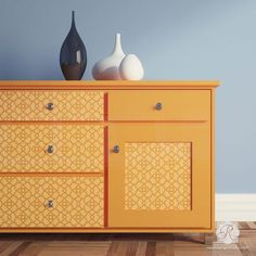 Use furniture stencils to decorate your painted furniture with classic Moroccan designs and trellis patterns. These trendy designer stencils are a must have!