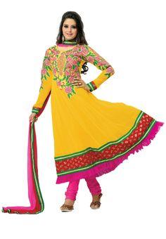Incredible #Yellow #Anarkali Suit