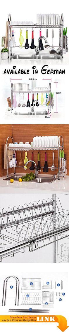 B078TVQTTX  Gewürzregal Küche Regal Edelstahl Küche Regal Tune - gewürzregale für küchenschränke