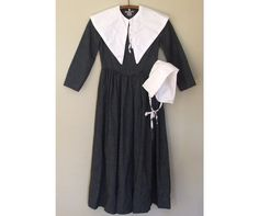 Puritan Pilgrim Dress Costume Outfit Girl 10 12 by LaurasLastDitch, $39.99