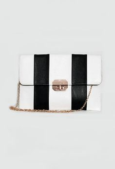 Candy Striped Clutch