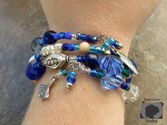 Blue Boho multi-bracelet by Maiden Oregon Studios