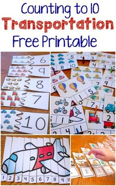 Transportation Themed Counting to 10, $0.00