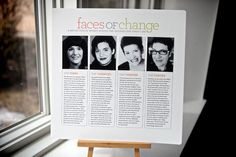Love this idea. My Story in Faces. Talk about each decade or major phase in your life, how you changed and highlights of the phase, using a face photo to top each time period. Cool. Cathy Zielske.
