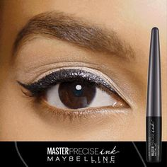Take your cat eye from basic to bold!  Up your eyeliner look with 7 shades of NEW Master Precise Ink Metallic Liquid Liner from Maybelline. Up to 24 hour wear and budgeproof, your cat eye will be sure to stay in place all day!