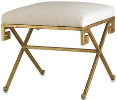 """Circe Bench by Currey & Co. 23""""Sq. x 21""""H 880 Taking Inspiration from Greenwich, CT Designed by Ashley Whittaker 