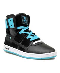 This Black & Turquoise New Age Hi-Top Sneaker by Vlado Footwear is perfect! #zulilyfinds