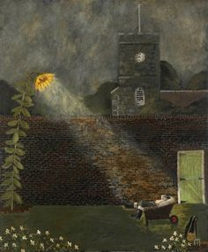 The Sleeping Gardener - Gary Bunt British painter and poet Dig the borders Weed the beds The gardener sows and reaps He's had a very busy day So now the gardener sleeps Art And Illustration, Illustrations, The River, Design Graphique, Naive Art, Nocturne, Art Design, Whimsical Art, Vincent Van Gogh