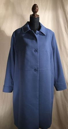 Women's Talbot's Blue dress winter overcoat Trench coat Size 18W NWT $269.00  #Talbots #Trench #EveningEveryday