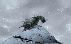 skyrim dragon by =IcaruS=, via Flickr  http://www.icarusstudios.co.uk